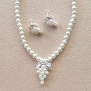 Bridal wedding necklace and earring set, (jnn212)